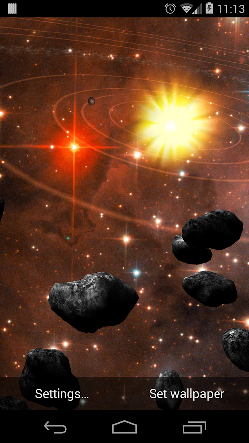Asteroid Belt Free L Wallpaper- screenshot
