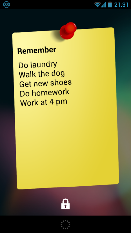 Notes Widget HD PRO - Stickies - screenshot