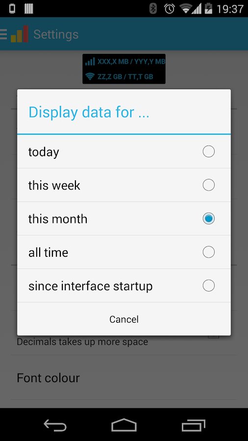 Data counter pro |data usage - screenshot