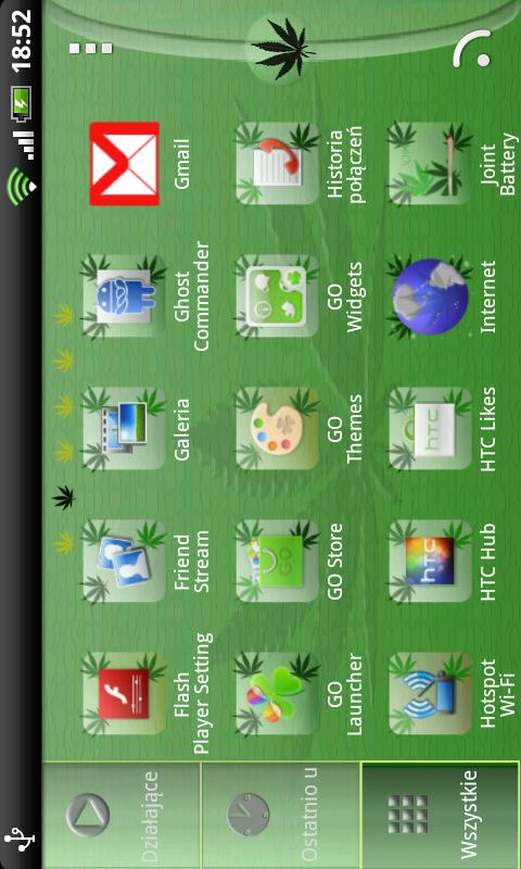 Go Launcher EX Ganja Theme - screenshot