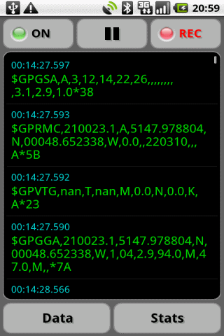 GPS Nmea Monitor- screenshot