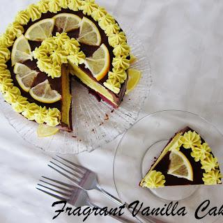 Raw Meyer Lemon and Dark Chocolate Cake