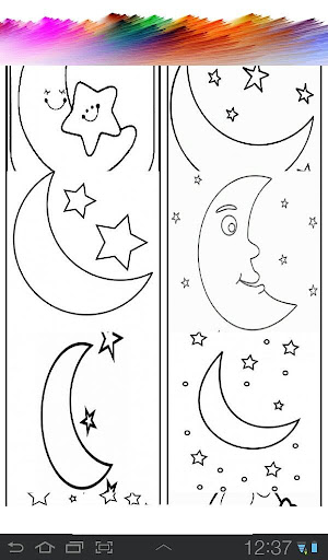 Moon Coloring