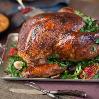 Maple Brined Turkey with Pomegranate Roasting Glaze Recipe