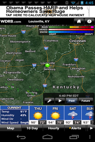 WDRB Weather App - screenshot