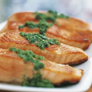Seared Salmon with Basil