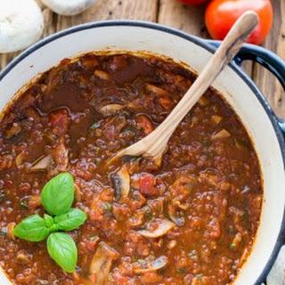 Mushroom Marinara Sauce