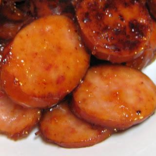 Apricot Kielbasa Slices.