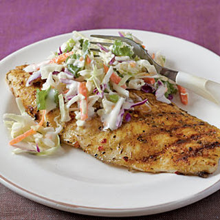Jerk-Rubbed Catfish with Spicy Cilantro Slaw