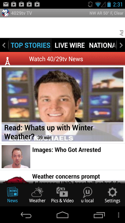 40/29 News - news, weather - screenshot