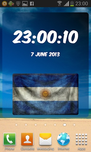 Argentina Digital Clock