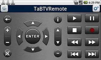 Screenshot of TaBTVRemote