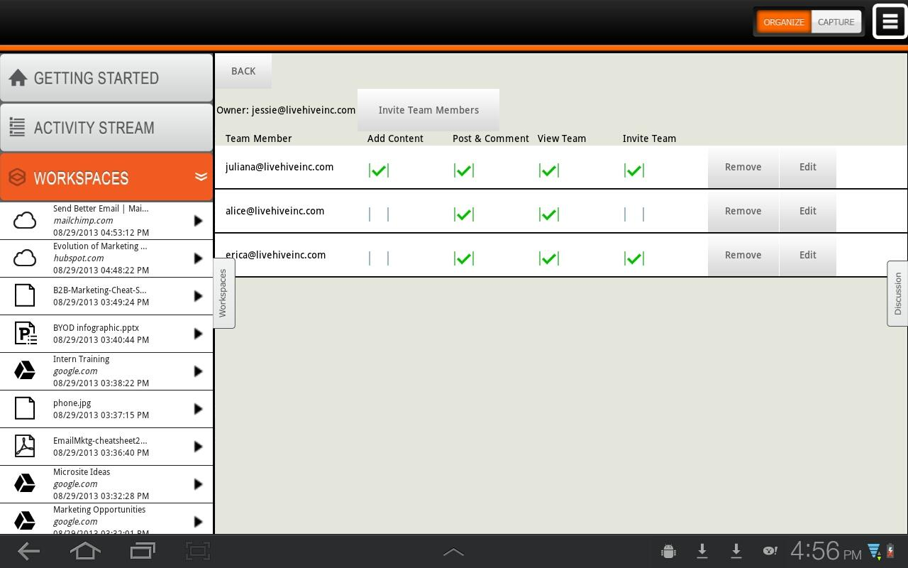 LiveHive Tablet - screenshot