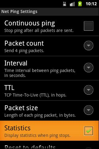 Net Ping - screenshot
