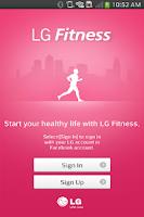 Screenshot of LG Fitness