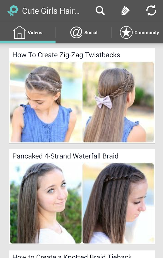 Cute Girls Hairstyles  Android Apps on Google Play - Cute Hairstyles