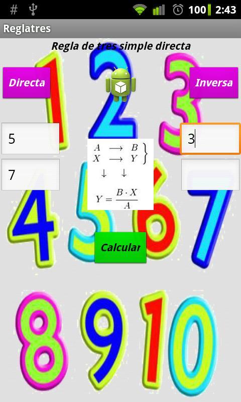 R3 - Math. Practical Rule of 3- screenshot