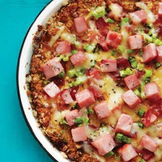 Ham & Green Onion Quiche.