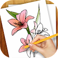 Game Learn to Draw Exotic Flowers version 2015 APK