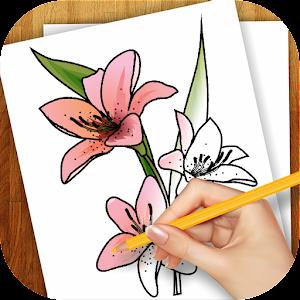 Lär dig att rita blommor APK