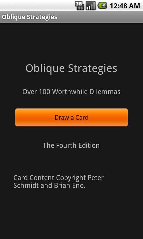Deprecated-Oblique Strategies - screenshot