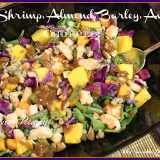 Mango, Shrimp, Almond, Barley, Avocado Chopped!