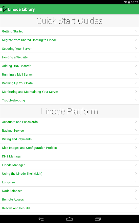 Linode Manager- screenshot