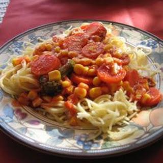 Al's Quick Vegetarian Spaghetti