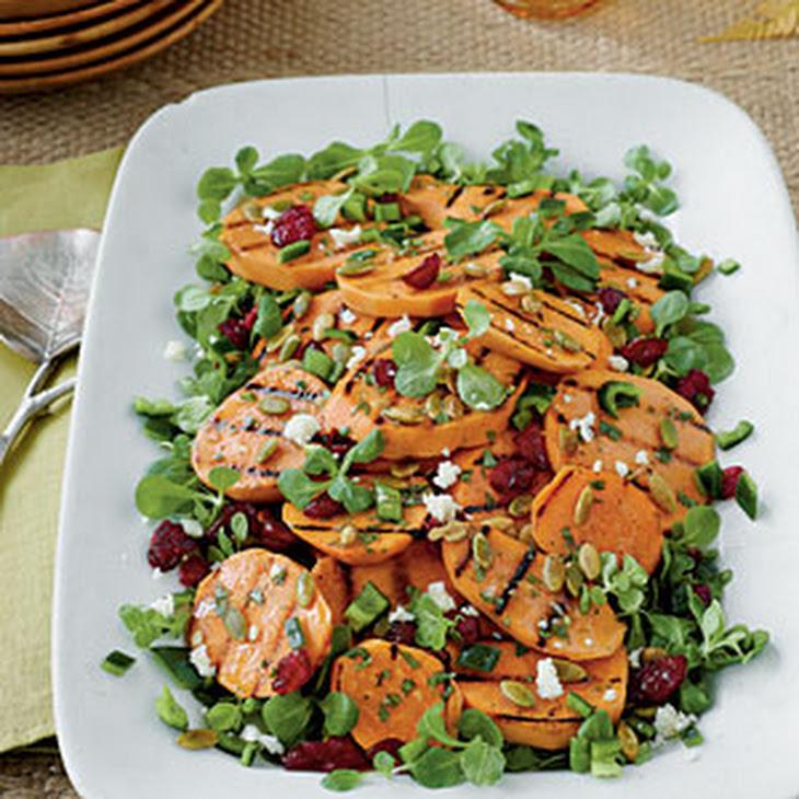 Grilled Sweet Potato-Poblano Salad
