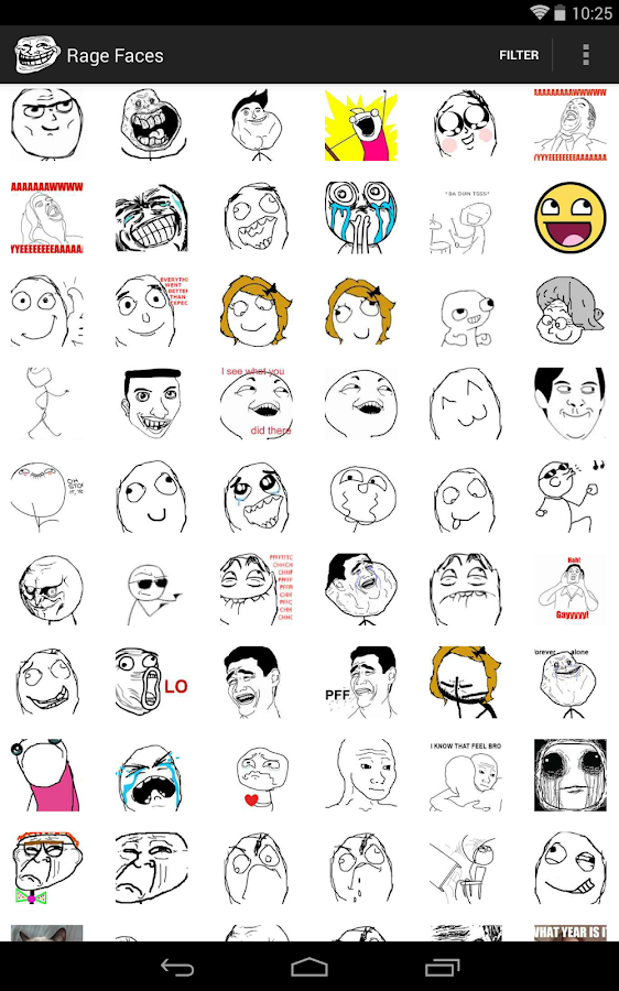Rage Faces - screenshot