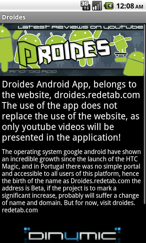 Droides - Apps/Phones Reviews- screenshot