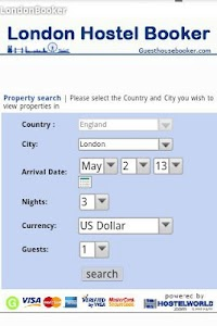 London hostel booking screenshot 0