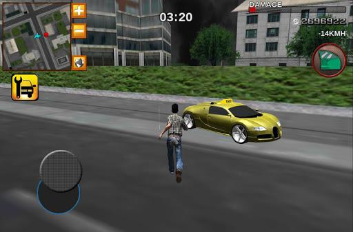 出租車司機瘋狂的3D賽車