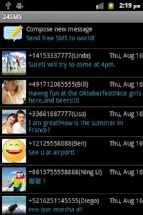 24SMS - Free International SMS - screenshot thumbnail