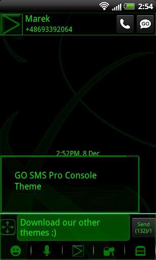 SMS 프로 콘솔 테마 GO