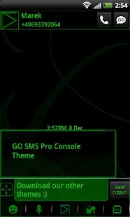GO SMS Pro Console Theme - screenshot thumbnail