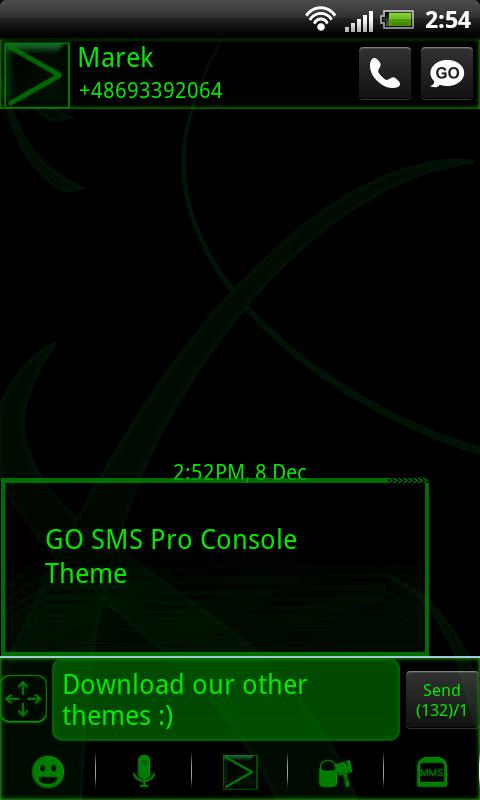 Console Theme for GO SMS Pro- screenshot
