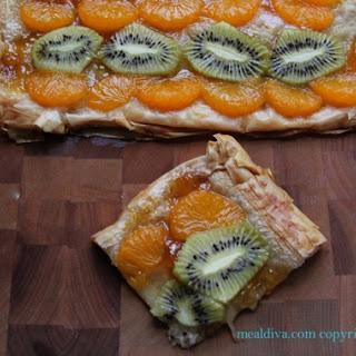 Tangerine and Kiwi Phyllo Tart.