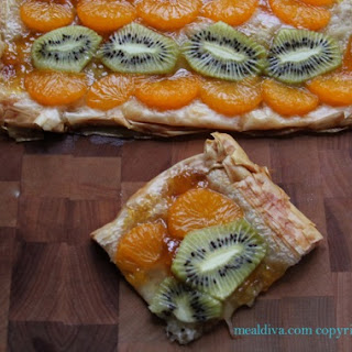 Tangerine and Kiwi Phyllo Tart.
