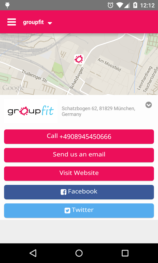 groupfit – Screenshot