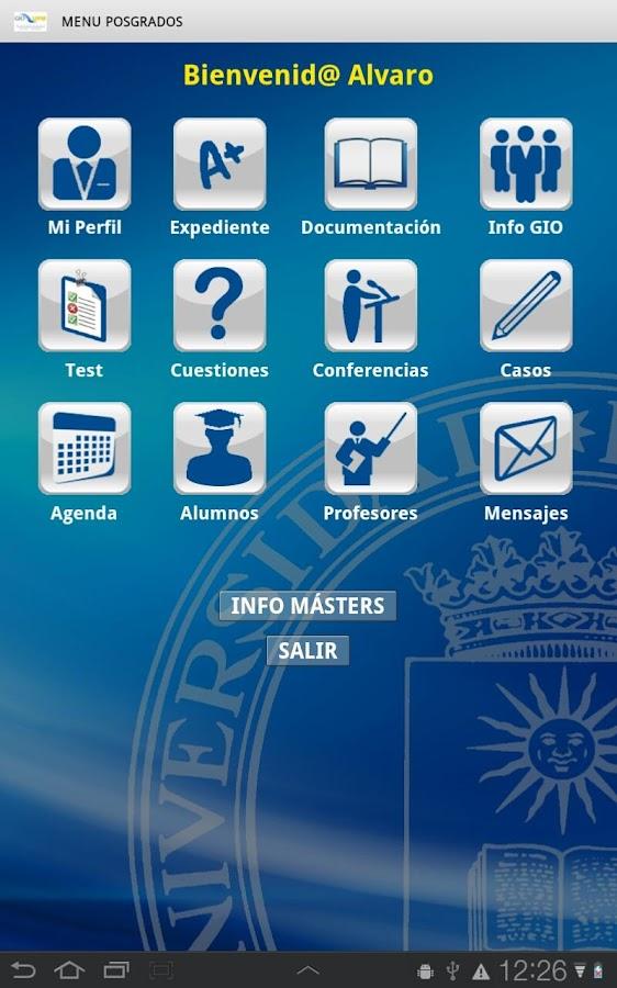Screenshots of Posgrados GIO for Android