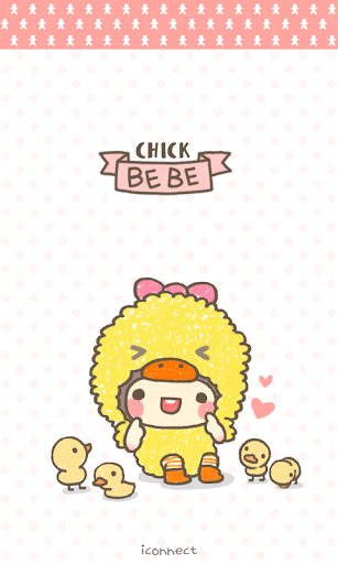 BeBe Chick Go Launcher theme