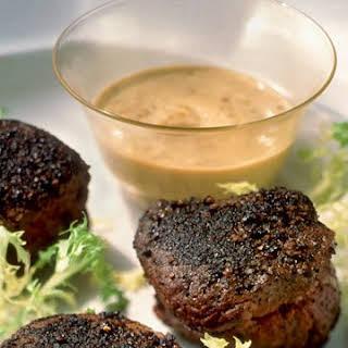 Beef Tenderloins with Mustard Sauce.