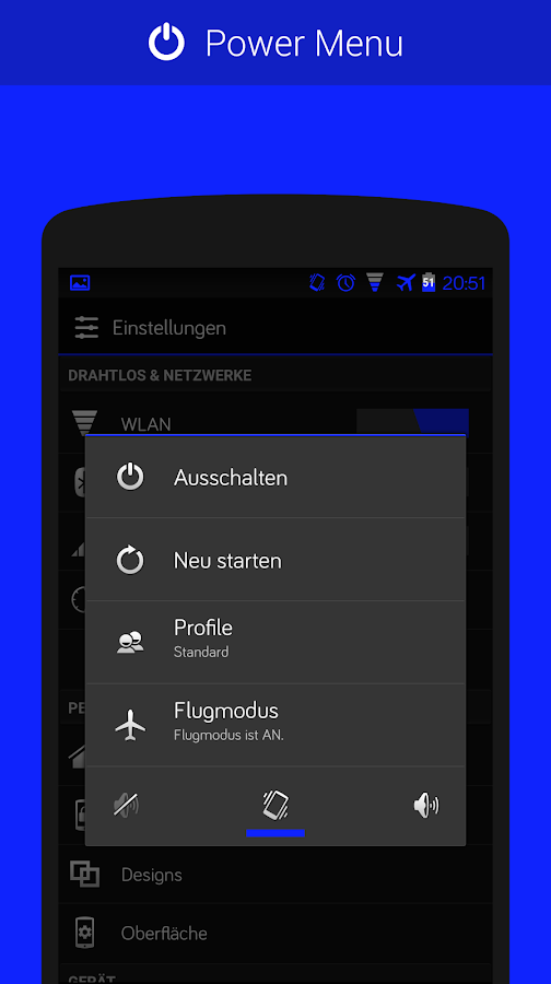 CM11/PA Theme - Blue- screenshot