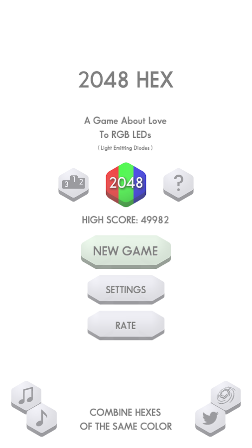 2048 Hex- screenshot