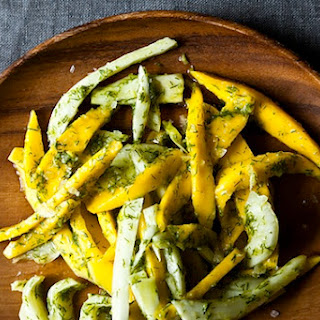 Mango Salad with Fennel Frond Pesto