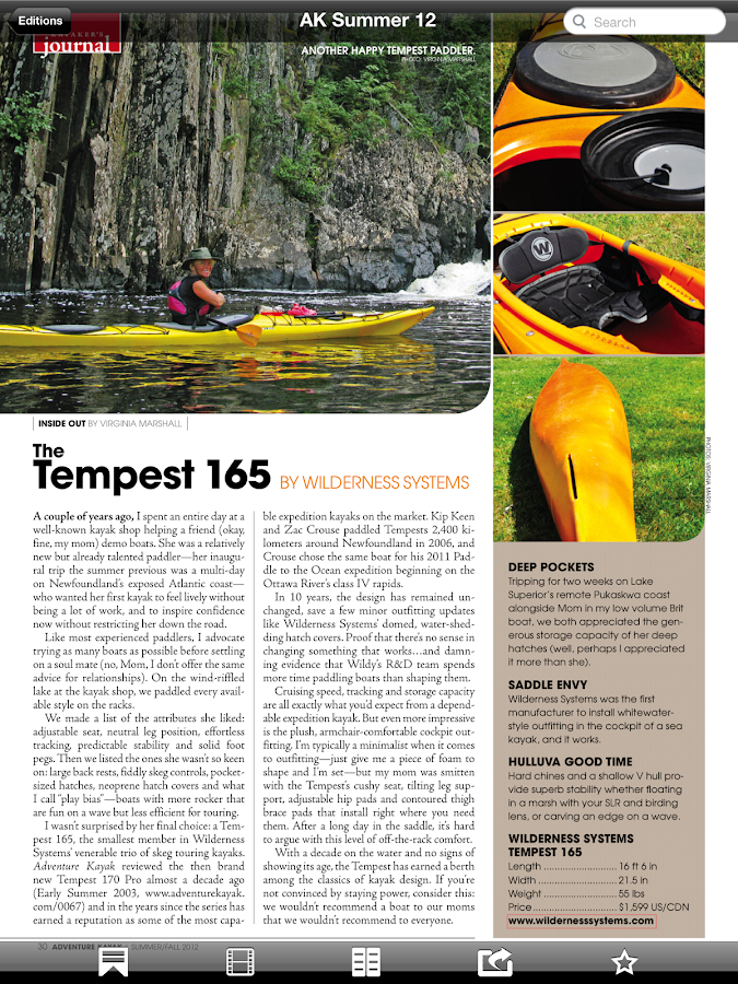 Adventure Kayak Magazine- screenshot