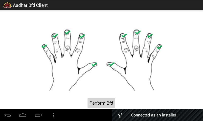 Aadhaar BFD Client- screenshot