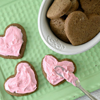 Valentine's Day Frosted Chocolate Heart Cookies