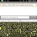 Zebra YELLOW Keyboard Skin HD icon